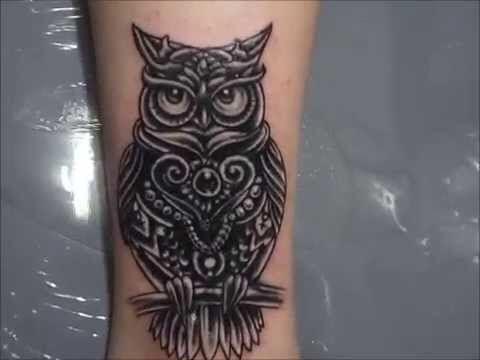 d70a4292f2c7a Owl Tattoo Cover-Up idea   Tat Cover-Up Ideas   Cover tattoo, Cover ...