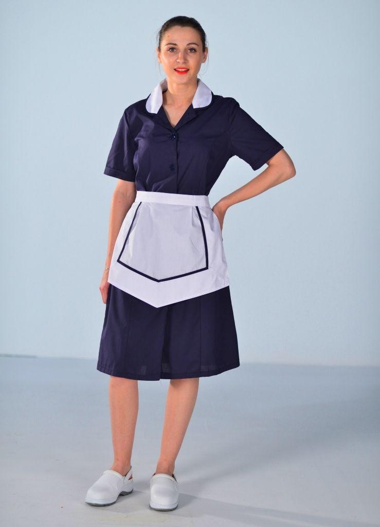 Blouse femme de chambre manches courtes bleu nuit carlton blouse femme de chambre et - Emploi femme de chambre a paris ...