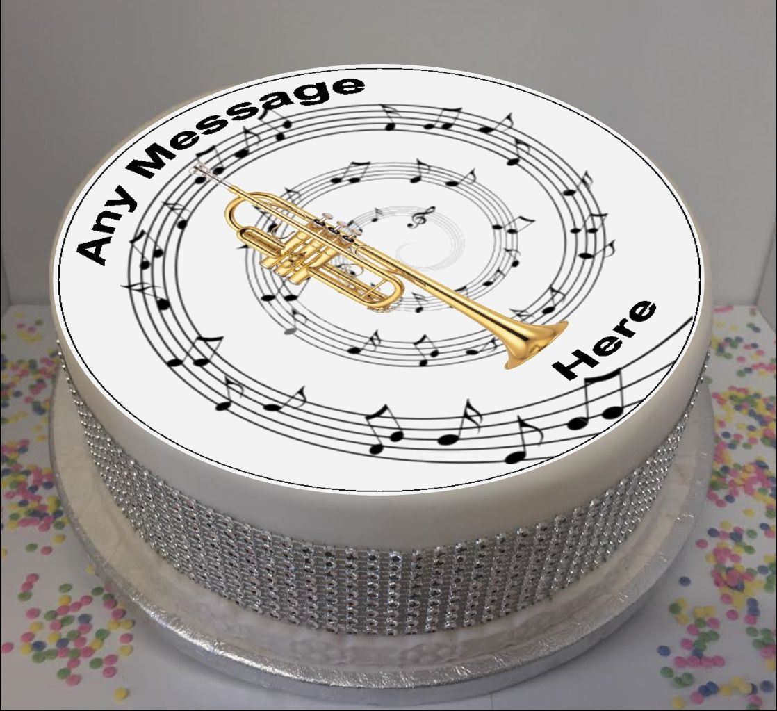 Music Notes Edible Icing Cake Topper  a