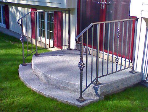 Rock A Round Step Guys Cement Steps Concrete Steps Handrails   Railing For Cement Steps   Precast Concrete   Redwood   Steep Outdoor Step   Commercial Concrete   Elderly
