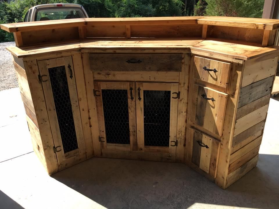 Custom Made Wood Pallet Bar 101 Pallet Ideas With Images