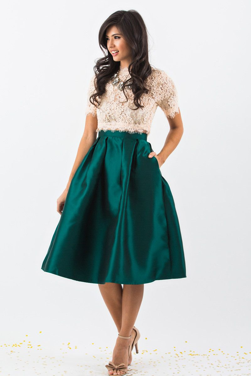 3710d9450 Midi Skirts, Mid Length Skirts, Holiday Outfit Inspiration, Bold Skirts for  Women –