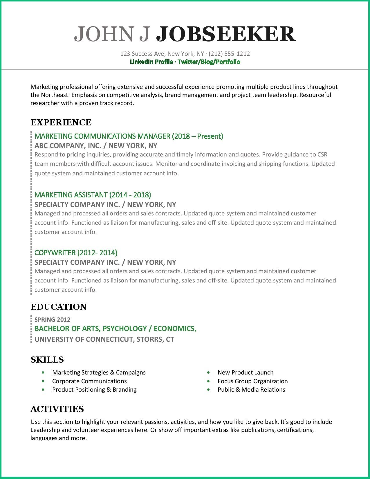 Use This Clean And Modern Resume Example To Improve Your Job
