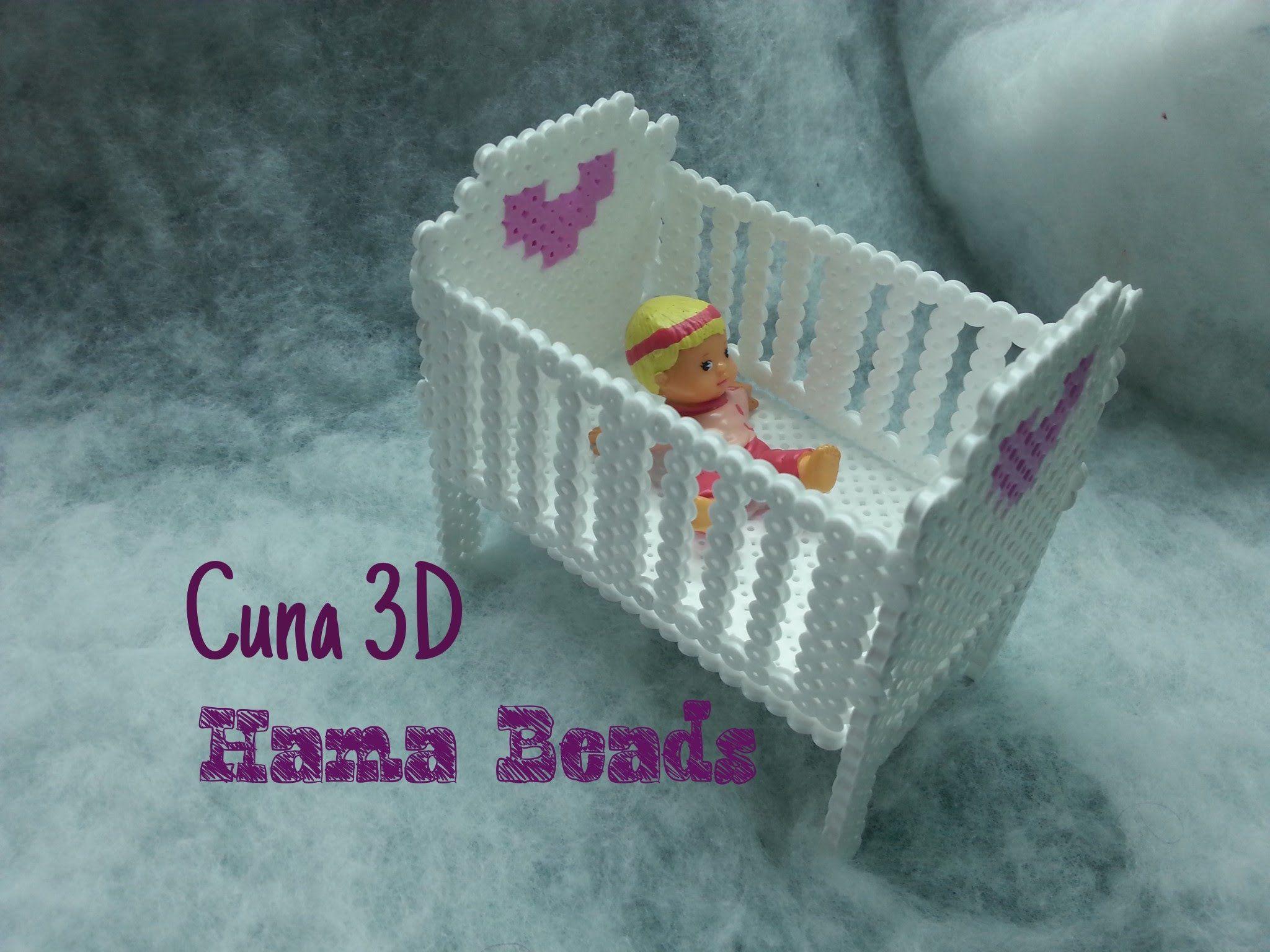 Cuna de Hama beads 3D - 3D Hama Beads Cradle