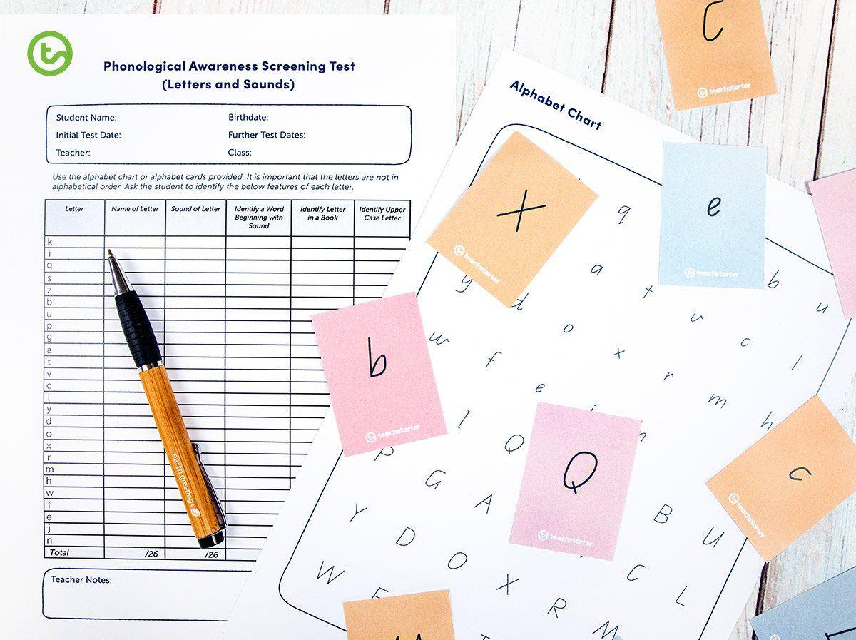 Phonological Awareness Diagnostic Tool Teaching Resource