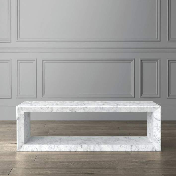 Williams Sonoma Pierre Marble Coffee Table In 2019