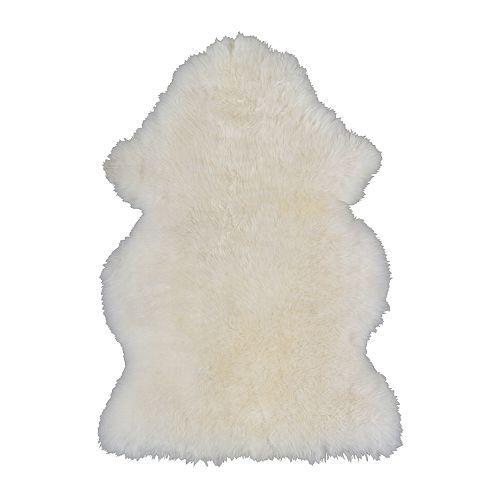 Ludde Peau De Mouton Blanc Casse Blanc Peau De Mouton Tapis Ikea Et Deco