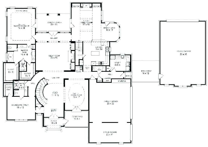 Plan For 5 Bedroom Bungalow 6 Bedroom Bungalow House Plans 6 Bedroom House Plans Modern 5 Bedroo Floor Plan Design Bungalow House Plans Home Design Floor Plans