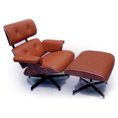 Amazon Kardiel Eames Style Plywood Lounge Chair & Ottoman, Luxe Camel  Semi