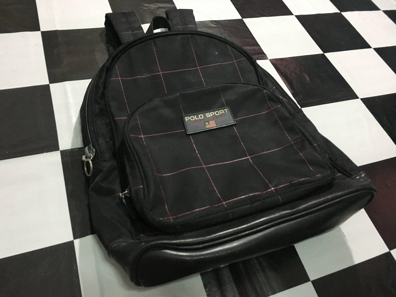 Sport Bag Polo Plaid Lauren Vintage Backpack Ralph 5jRAL4