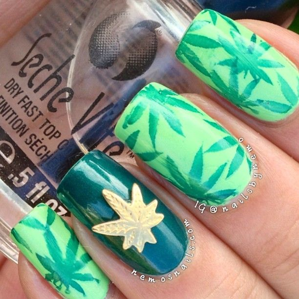instagram @Amanda Tima Bhatnagar | pineapple express inspired nails ...
