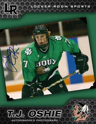 Signed T.J. Oshie Photograph - North Dakota Fighting Sioux 8x10 W coa . by  Sports Memorabilia.  72.24. T.J. OSHIE SIGNED NORTH DAKOTA FIGHTING SIOUX  8X10 ... 78e5f90d733