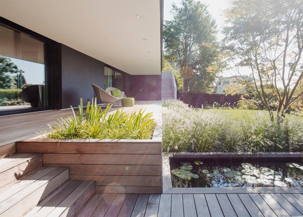 Objekt 336 moderner Garten von meier architekten - moderne gartengestaltung hanglage