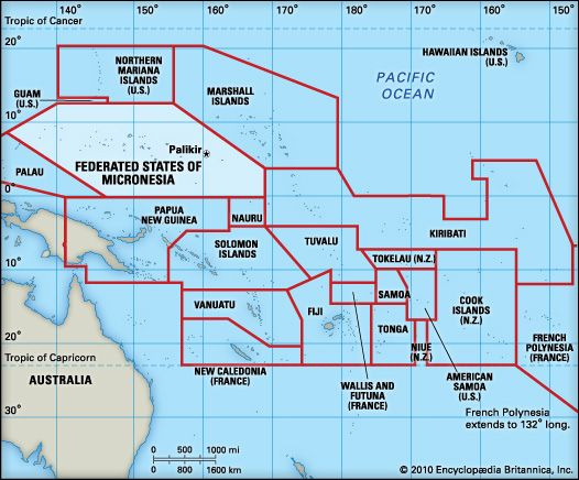 Federated States Of Micronesia Map Federated States of Micronesia Geography. | Oceania in 2019  Federated States Of Micronesia Map