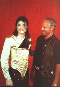designer fashion cc8e6 ccfb3 Michael and Versace. He did several of Michaels costumes ...