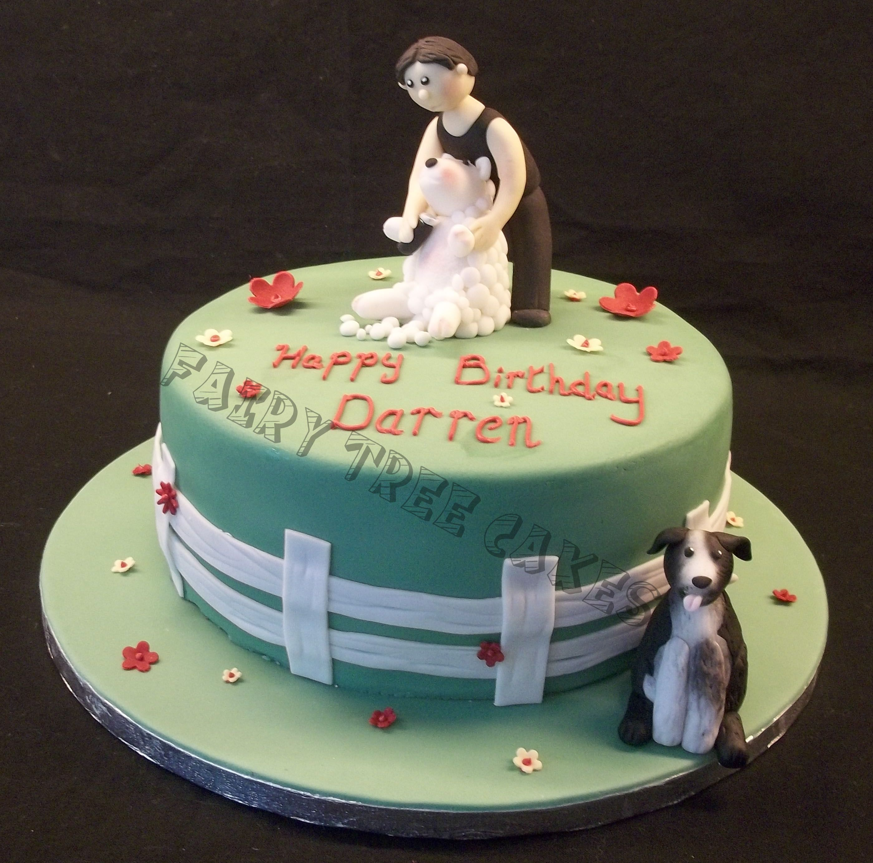 Sheep Shearing Cake A personalized cake made to order Fairy Tree