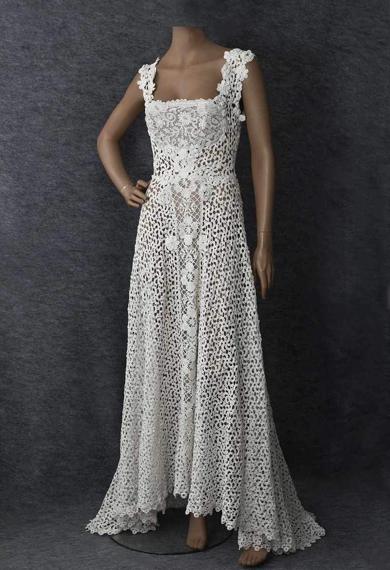 Irish Lace Wedding Dress Crochet Wedding Dresses Crochet
