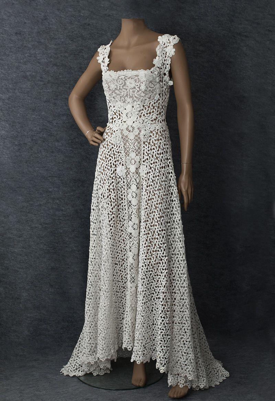 Irish lace wedding dress Crochet wedding dresses
