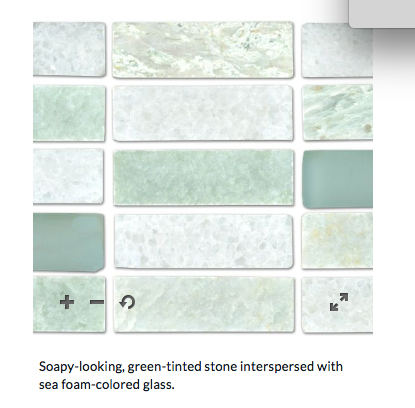 from TileShop com - Hamilton Biltmore with Ice Glass $26 sq