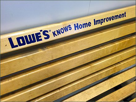 Lowe S Knows Branded Bench Lowes Bench Logo Branding