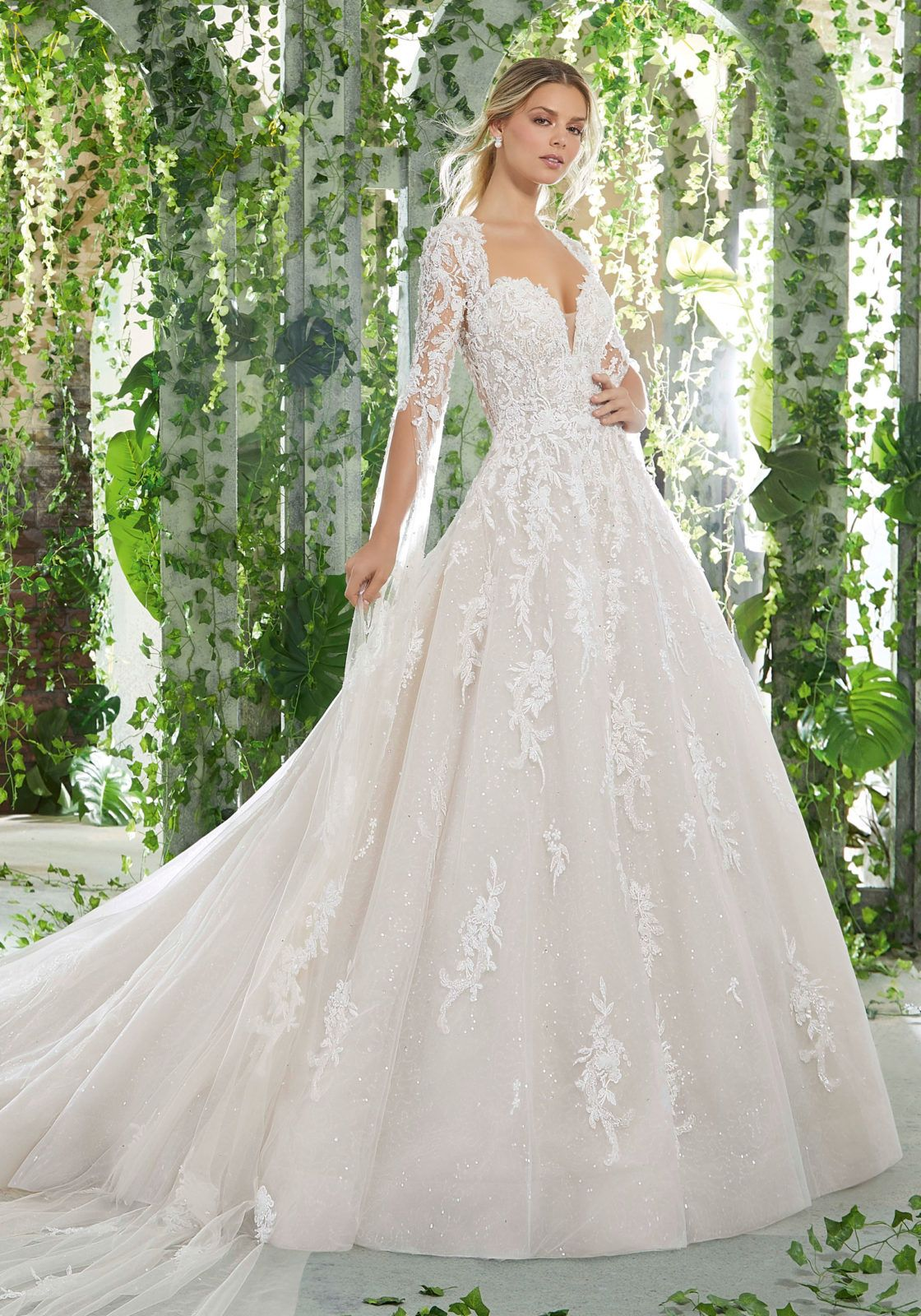 04fbfc6877e3 Persephone Wedding Dress Drop Waist Wedding Dress, Wedding Gowns With  Sleeves, Bridal Wedding Dresses