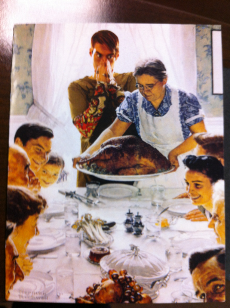 Stefon crashes the Norman Rockwell feast | Movies and T.V. | Pinterest