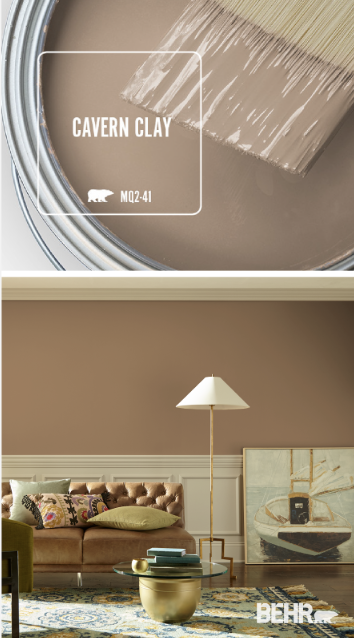 Create A Timeless Style In The Interior Design Of Your Home With Behr Paint In Cavern Clay This Neut Living Room Paint Home Decor Paint Colors For Living Room