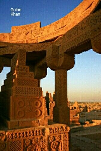 Great photography of the Chokandi Graves near Karachi Sindh Pakistan