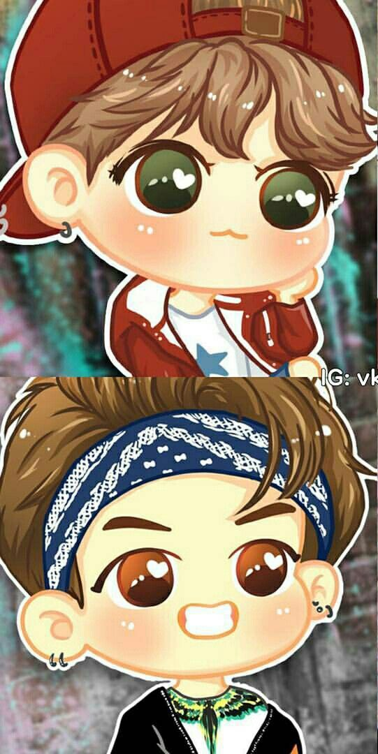 Bts Fanart Cute Happy Kawaii Chibi Jhope Hoseok Rapmonster Namjoon