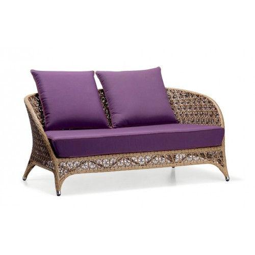Fantastic Flora Exotic Loveseat With Purple Cushion Special Discount Lamtechconsult Wood Chair Design Ideas Lamtechconsultcom