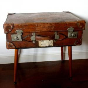 Beautiful Retro, Vintage Suitcase Coffee Table!