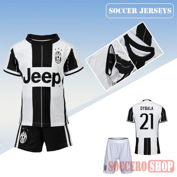 brand new df78c cc8a8 Newest Cool Juventus Black/White 2016-2017 Home Kids Soccer ...
