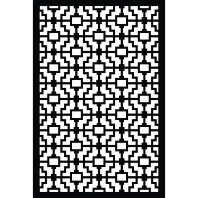 Acurio Latticeworks 1/4 in. x 32 in. x 4 ft. Black Fret Vinyl Decor Panel-3248PVC-BK-FRT - The Home Depot