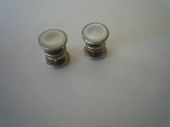 Killer Mother of Pearl 1920s Snap Cuff Links