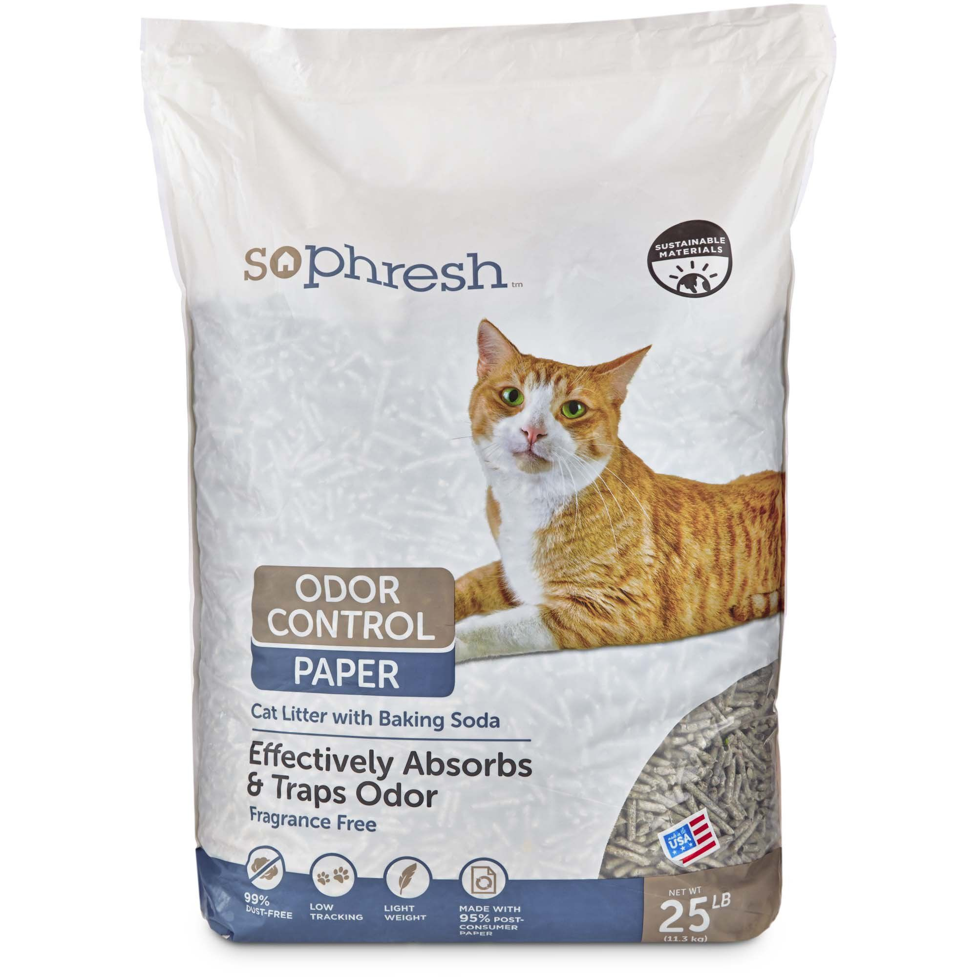 So Phresh Odor Control Paper Cat Litter, 25 lbs Paper