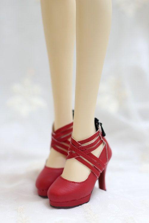 1/3 bjd doll shoes, chaussures sd13/sd16, 3 couleurs, Croix bracelet chaussures chaussures à talon haut, volks DD soom