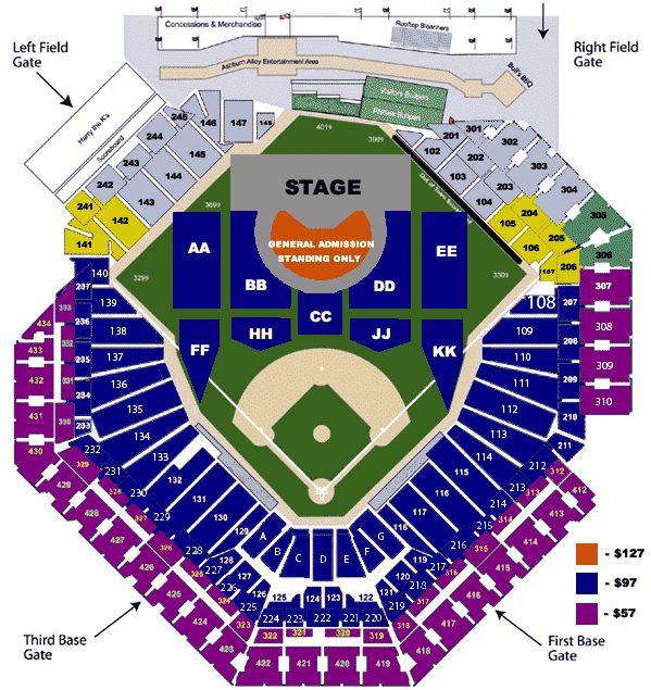 Citizen bank park seating chart phillies concert tickets jay z