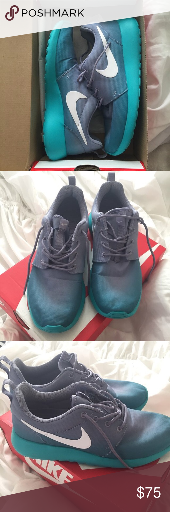 Nike ombré roshes! super comfy! fits well Nike Shoes Sneakers