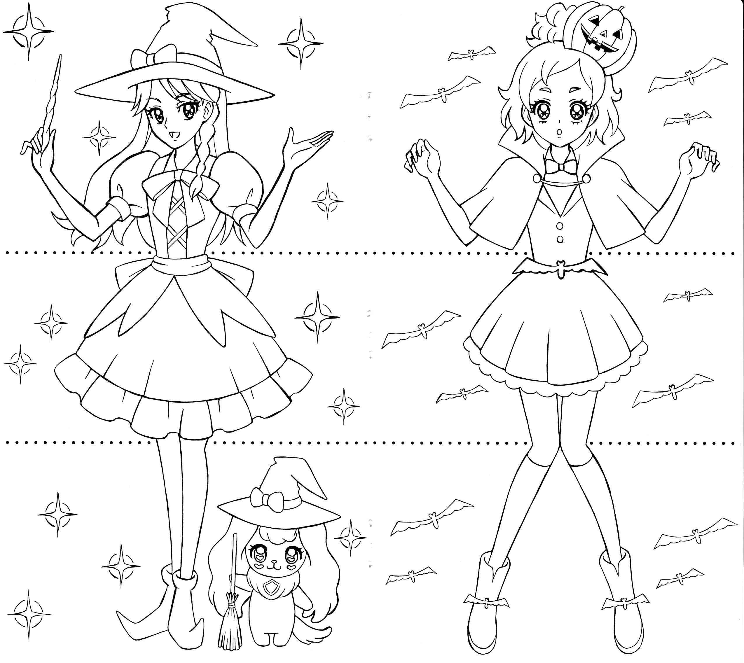 princess precure minami u0026haruka anime coloring pages