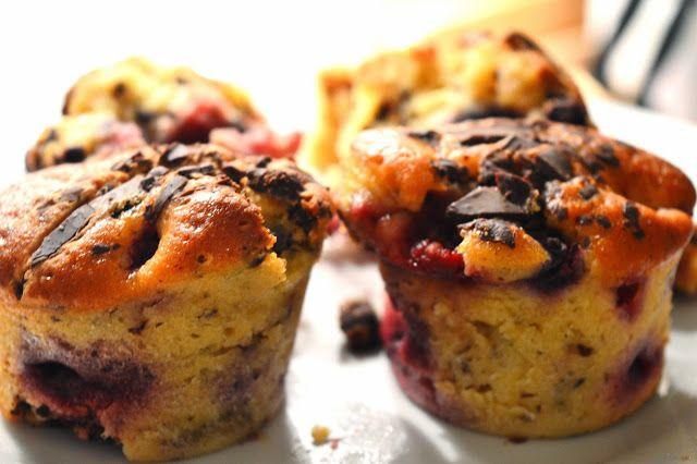 Coisas e Coisinhas: Berries & Chocolate Muffins