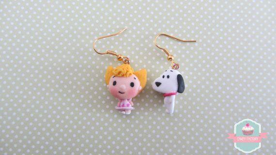 Orecchini Sally & Snoopy di CandyFactory7 su Etsy