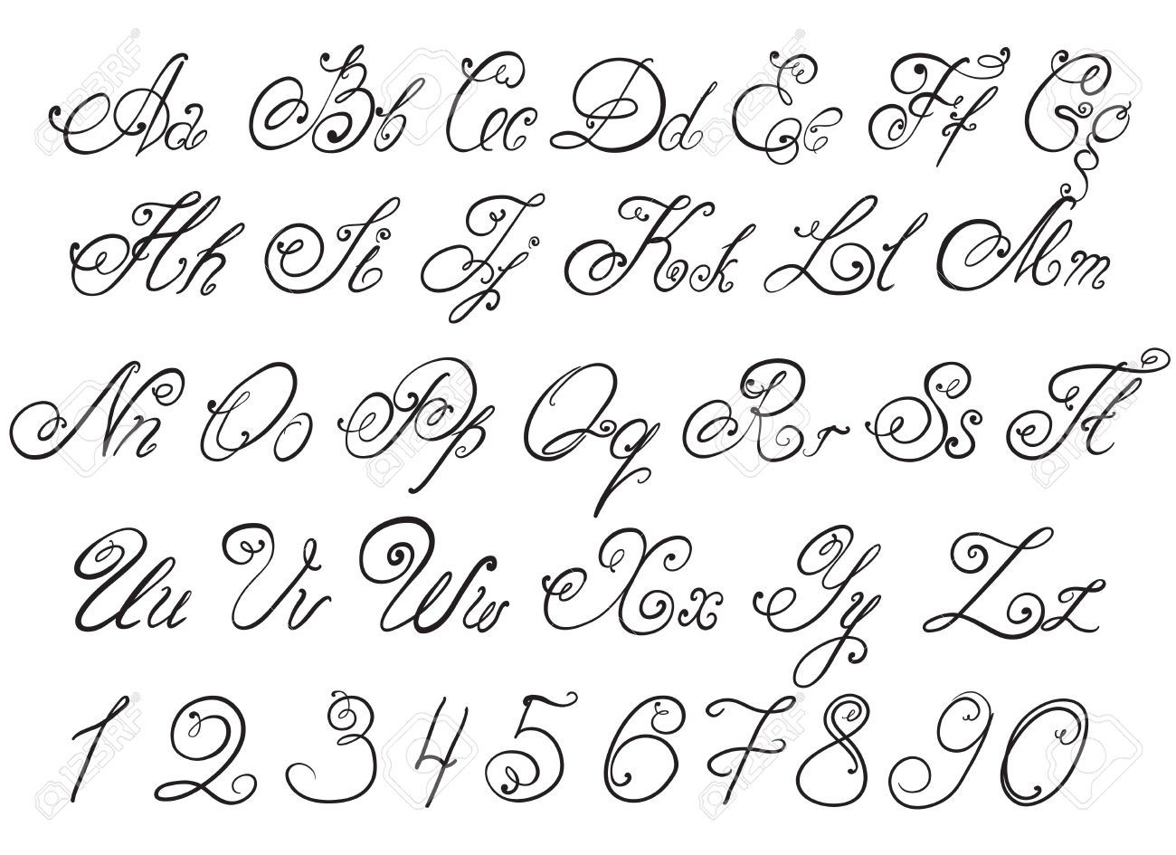 calligraphy alphabet - Google Search (With images) | How ...