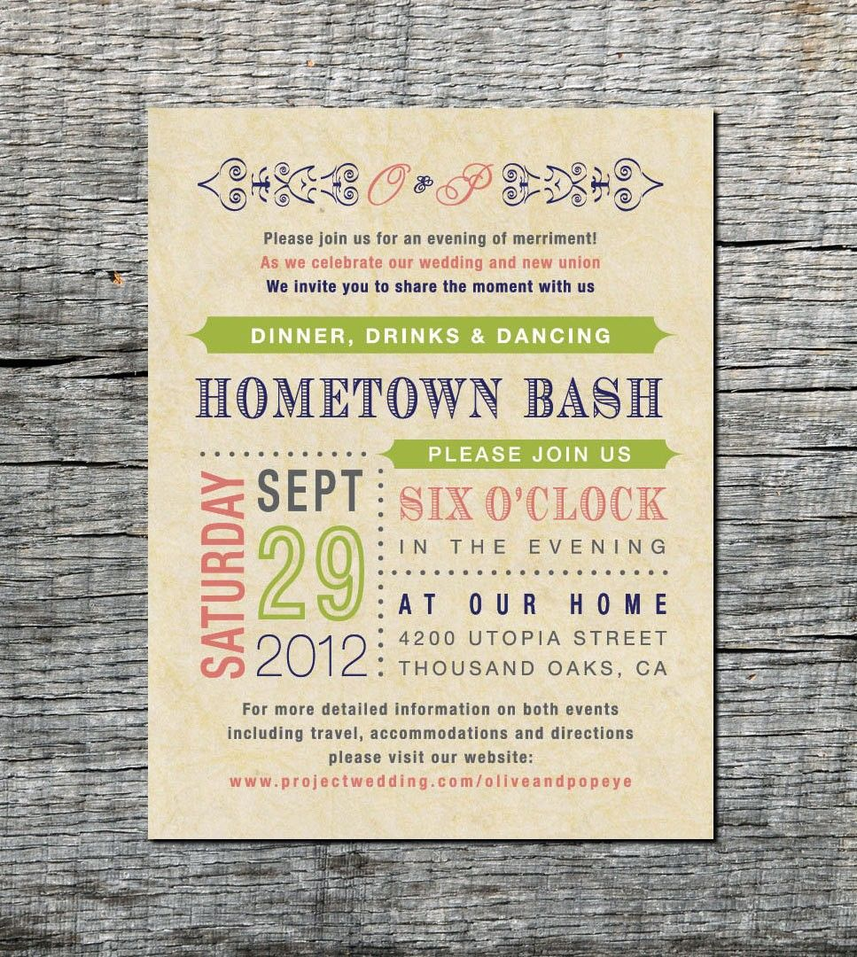 post wedding reception invitations Wedding Reception Only Invitation Wording Examples