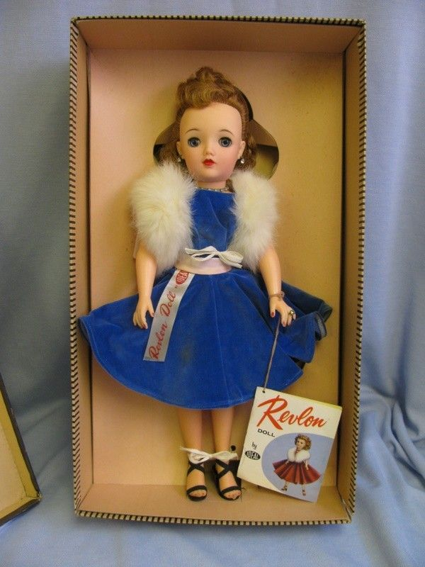"18""Miss Revlon"" Ideal #0950-1956 QUEEN OF DIAMONDS in BOX Wrist-Tag & Ribbon Tag.."