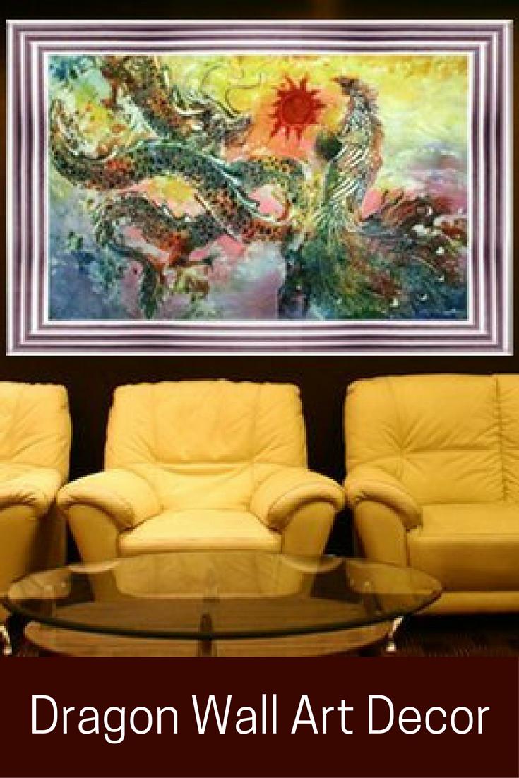 Mythical, Powerful and Celestial Dragon Wall Art | Art decor, Game ...