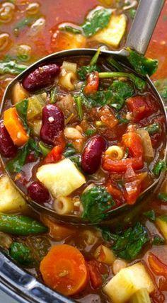 Homemade Minestrone Soup {Slow Cooker} Recipe   Li