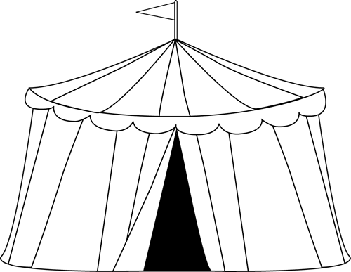 Carnival Clip Art Circus Tent Clip Art Image Black And White Outline Of A Circus Tent Circus Tent Circus Tent Craft Toddler Art