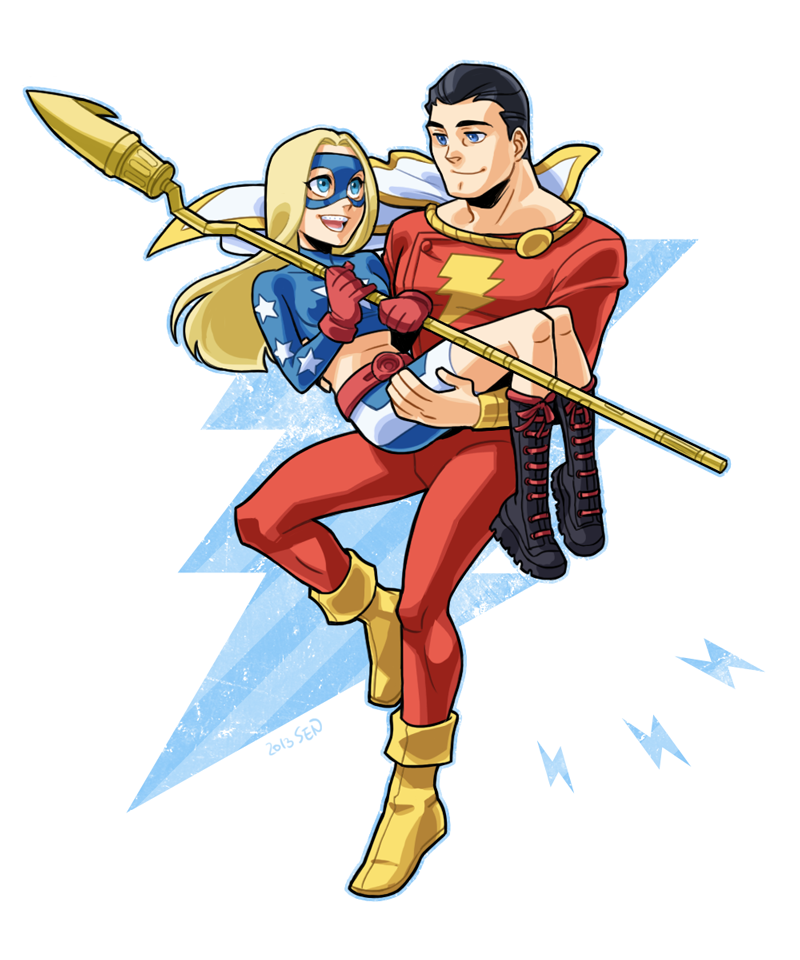 Captain Marvel And Stargirl By Sii-SEN On DeviantART
