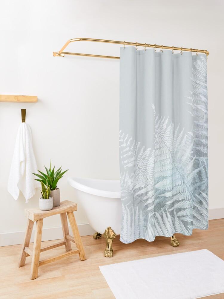 Frozen Fern Shower Curtain Designer Shower Curtains Curtains Shower Curtain