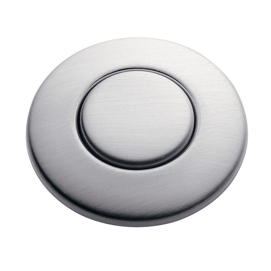 Insinkerator Stc Sn Universal Air Switch Button For Garbage Disposal Disposer Satin Nickel Efaucets Com Satin Nickel Switch Disposable